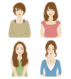 Women with different hairstyles Royalty Free Stock Images