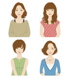 Women with different hairstyles Stock Image