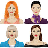 Women in different styles Royalty Free Stock Photos