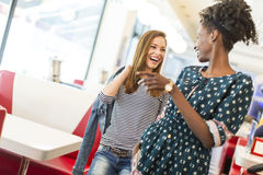 Women in the diner Stock Image