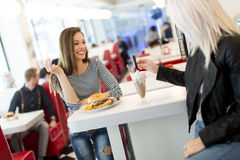 Women in the diner Royalty Free Stock Photography
