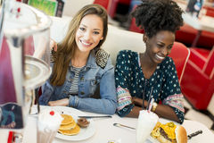 Women in the diner Stock Photography