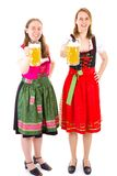 Women in dirndl having fun at Oktoberfest Stock Photography