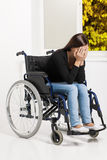 Women with disability. Royalty Free Stock Photo