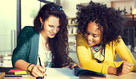 Women Discussion Research Teamwork Concept Royalty Free Stock Image