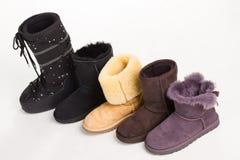 Women& divertente caldo x27; stivali di s Immagini Stock Libere da Diritti