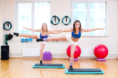 Women do stretching exercise Royalty Free Stock Images