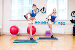 Women do stretching exercise Royalty Free Stock Photography