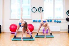 Women do stretching exercise Stock Photos