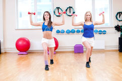 Women do stretching exercise Royalty Free Stock Image