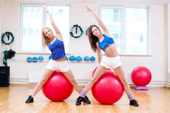 Women do stretching exercise Royalty Free Stock Photos