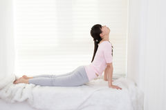 Women do yoga Stock Photo