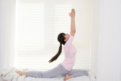 Women do yoga Stock Image