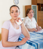 Women with  documents at table Royalty Free Stock Photography