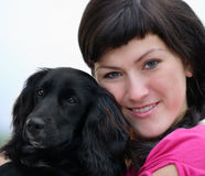 Women with dog Stock Image