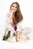 Women with dog. Royalty Free Stock Photos