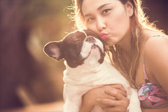 Women dog Royalty Free Stock Images