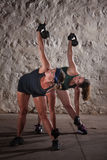 Women Doing Boot Camp Workout Stock Image