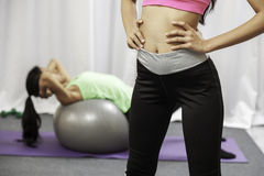Women doing exercise Royalty Free Stock Photography