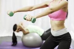 Women doing exercise Stock Photos