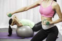 Women doing exercise Royalty Free Stock Photo