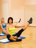 Women doing fitnees exercise Stock Images