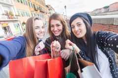 Women doing Shopping Royalty Free Stock Image
