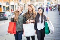 Women doing Shopping Stock Image
