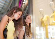 Women doing shopping in a mall Stock Image