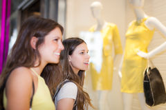 Women doing shopping in a mall Stock Photography