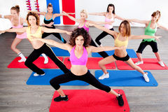 Women doing streching Stock Image