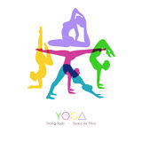 Women doing yoga asanas Stock Photography