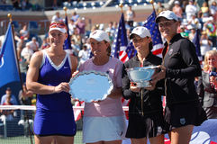 Women Doubles winners US Open 2008 (4) Stock Photos