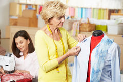Women In Dress Making Class Royalty Free Stock Photo