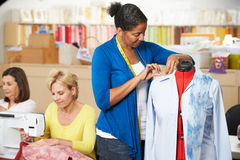 Women In Dress Making Class Royalty Free Stock Photography