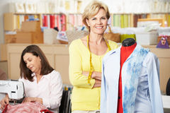 Women In Dress Making Class Stock Photo