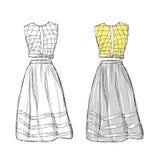Women dress sketch Stock Photos