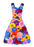 Women dress from spring flowers Royalty Free Stock Image