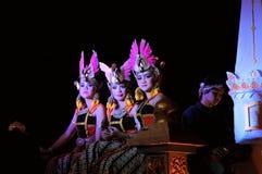 Women dressed as princesses, Yogyakarta city. Yogyakarta, Indonesia - 7 October 2014:  258th city anniversary - Women traditionally dressed as princesses march Stock Image