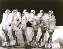 Women dressed in cellophane costumes Royalty Free Stock Photo