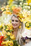 PORTUGAL MADEIRA FUNCHAL FLOWER FESTIVAL royalty free stock image