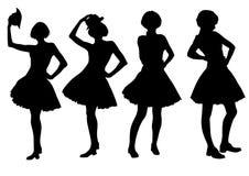 Women in dresses Stock Photo
