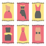Women dresses icon set Royalty Free Stock Photos