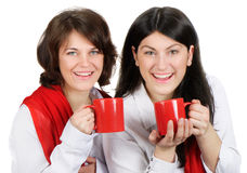 Women drinking Royalty Free Stock Photography