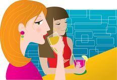 Women Drinking Stock Photo