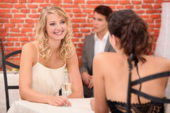 Women drinking champagne Royalty Free Stock Image