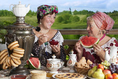 Women drinking tea Royalty Free Stock Photo