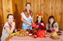 Women drinking tea Stock Photography