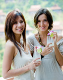 Women With Drinks Royalty Free Stock Photos
