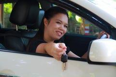 Women driving Stock Image